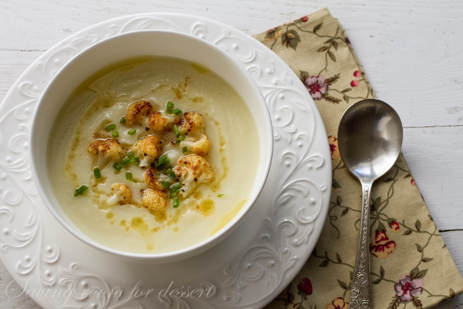 Cauliflower Soup - Saving Room for Dessert