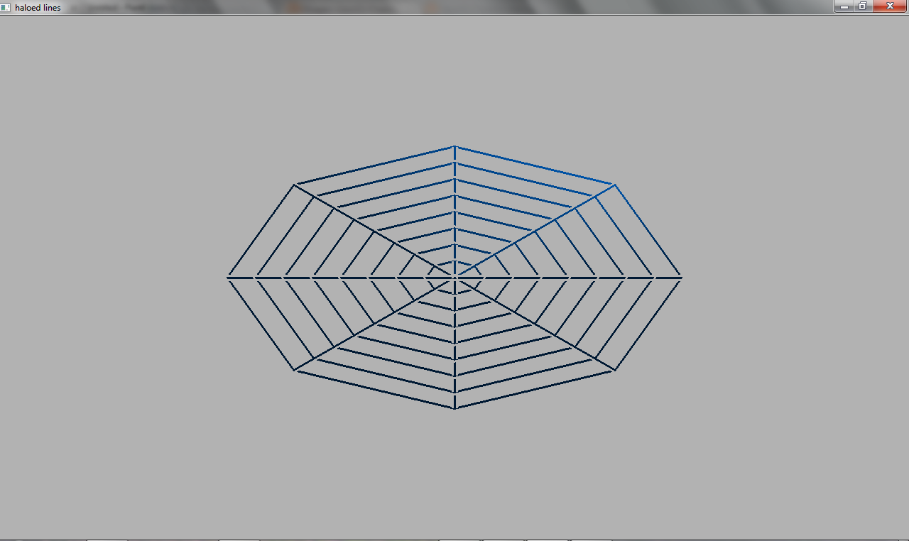 Line Drawing Algorithm Using Opengl : Images for output of simple haloed lined wireframe