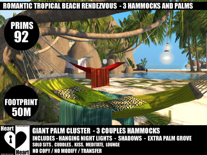 beach living in secondlife   designer hammocks   high def coco palms heart botanicals  beach living in secondlife   designer hammocks      rh   dollyandlilithheart blogspot