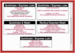 Quick Lube Coupons