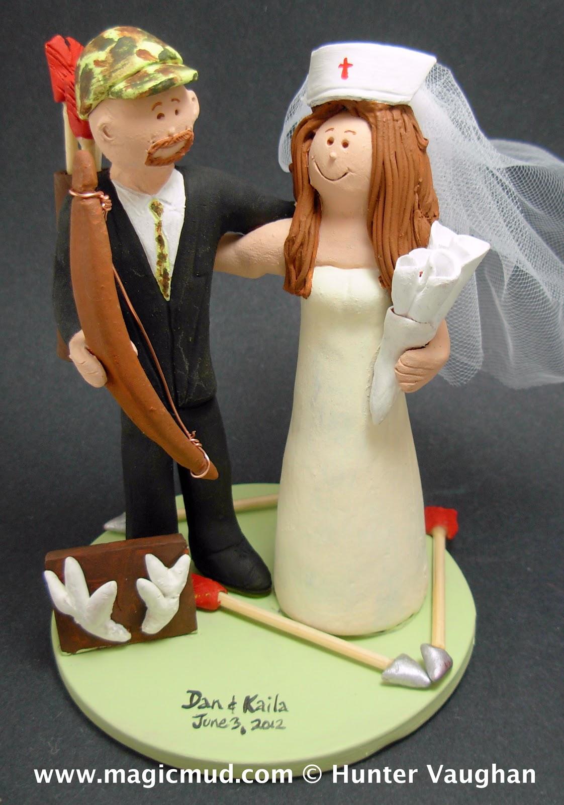 custom wedding cake toppers Archers Wedding Cake Topper