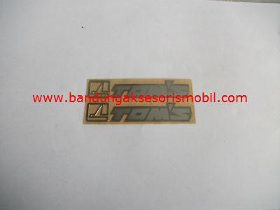 Emblem Alumunium 3M Kecil 2 Pcs Toms