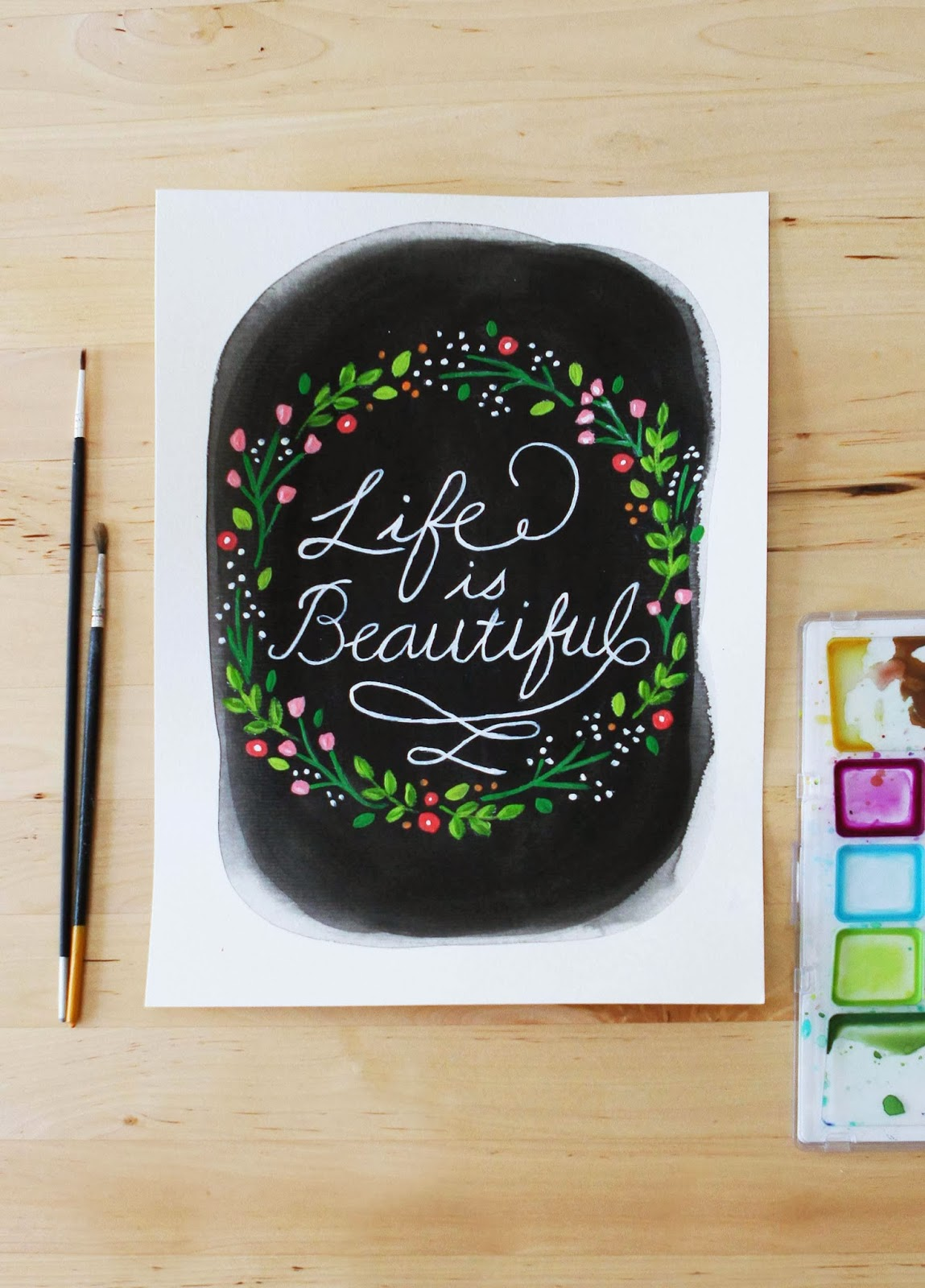 hand painted lettering typography paintings inspirational gifts homewares decor