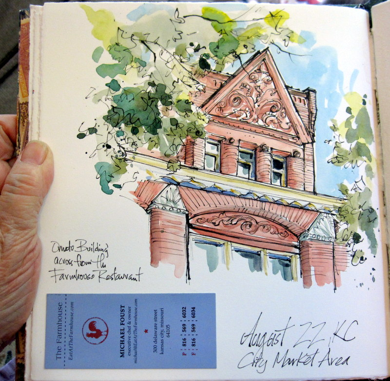 Urban Sketchers Midwest Urban Sketching in the City Market KC