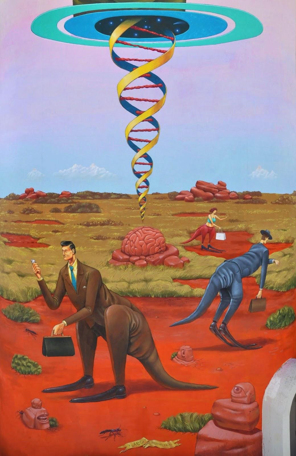Memory of the land a new mural by aec interesni kazki in for Australian mural