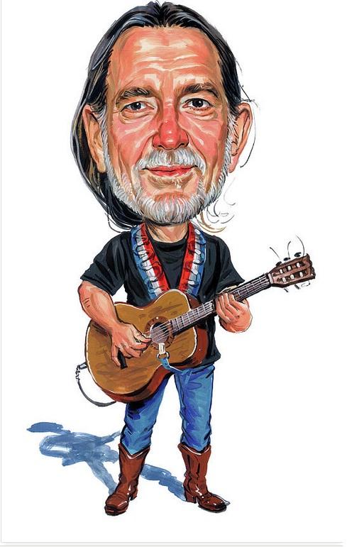 Willie Nelson com um violão