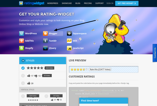 How to Add a Post Rating System in Blogger