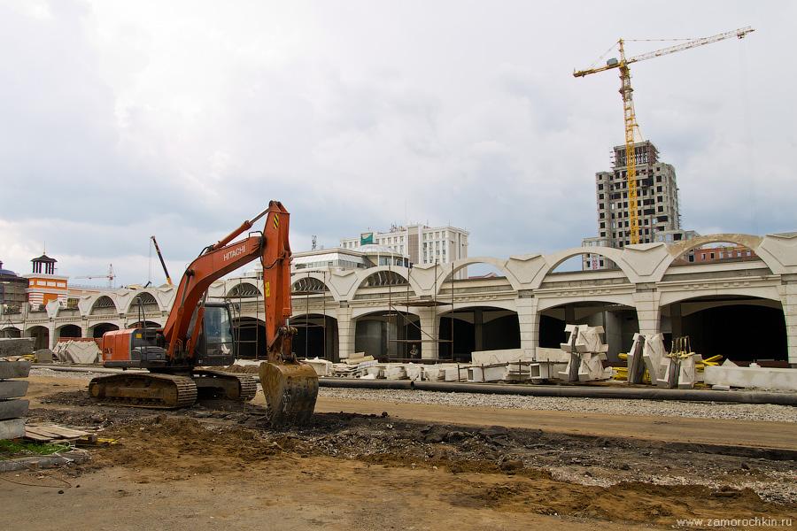 Строительные работы на площади Тысячелетия | Construction work on the Millennium Square