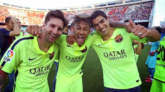 Kumpulan Goal Messi Suarez Neymar (MSN) La Liga musim 2014/2015