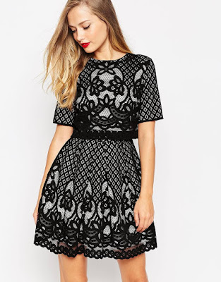 The crop top lace mini skater dress from ASOS