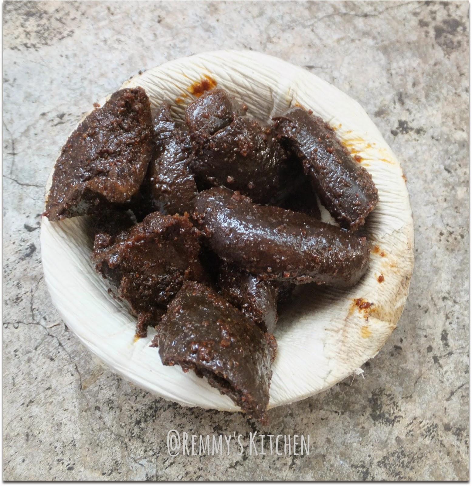 Unakka mnaga achar/Dry mango pickle Kerala style