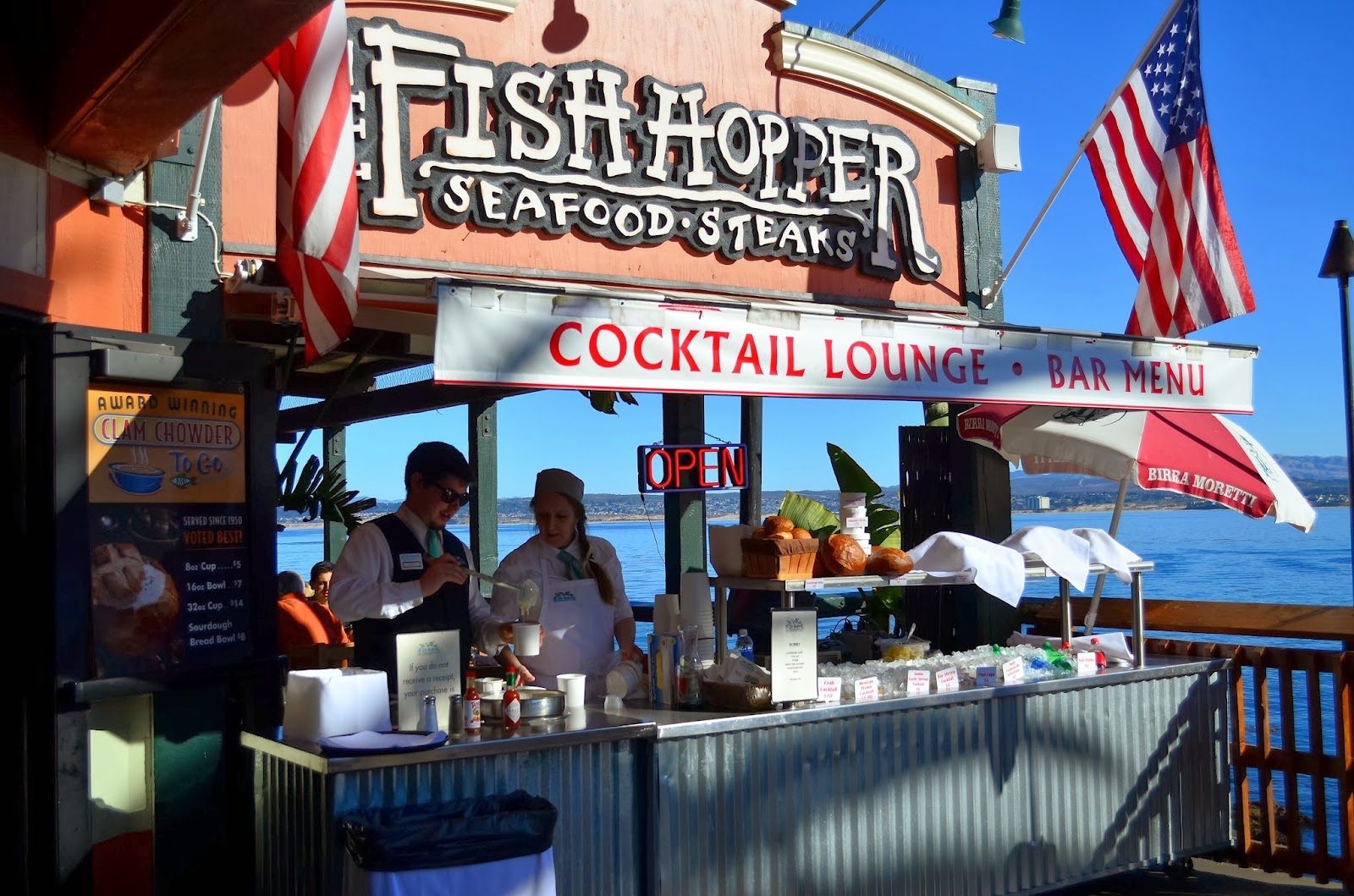Hedofoodia the fish hopper seafood steaks monterey for Fish hopper monterey