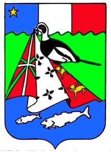 Pêcheur de drapeaux Miquelon-blason