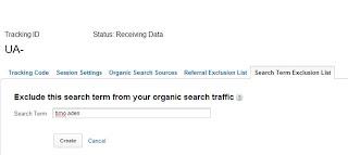 Universal Analytics - Suchbegriffe ausschließen