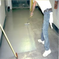 Apply epoxy on the  floor