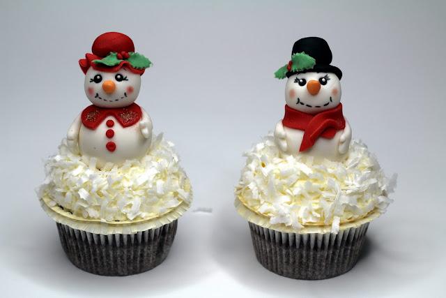 Xmas Cupcakes with Snowman - London