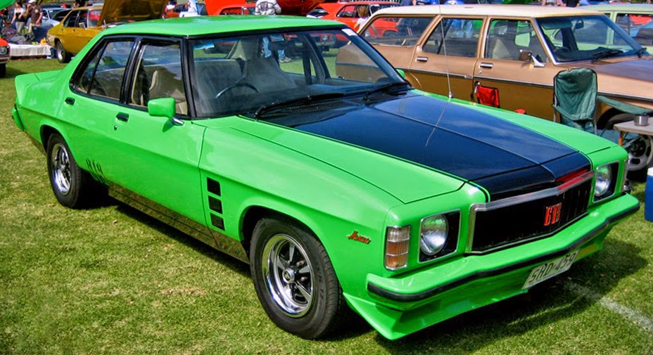 Holden's HX (pictured), was an evolution of the record-selling HQ, with more than 480,000 units shifted throughout the car's lifetime.