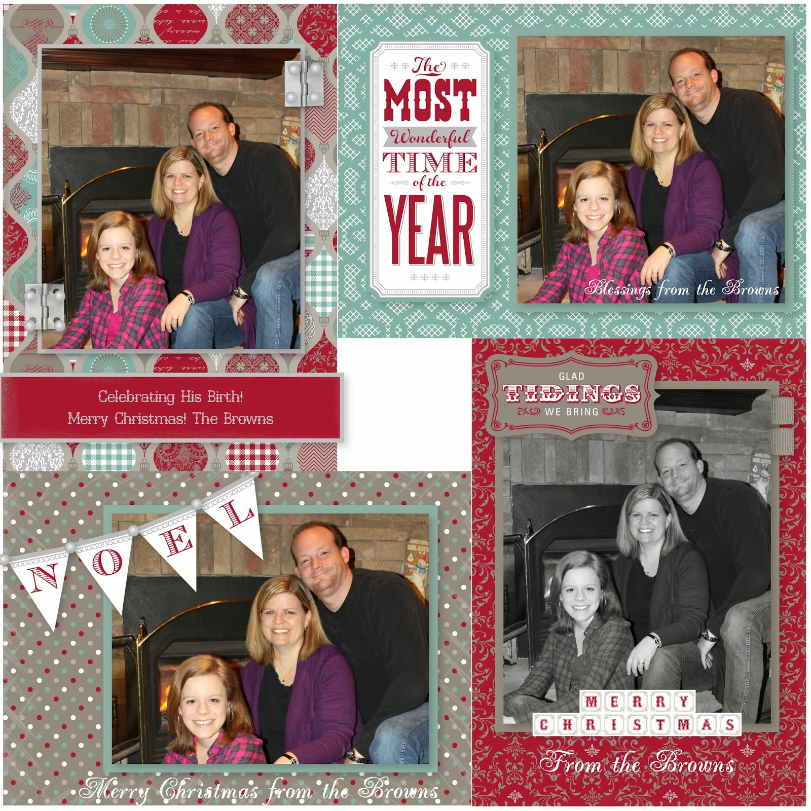 Show Me Scrapping Blog: How to make Custom Christmas Photo Cards in ...