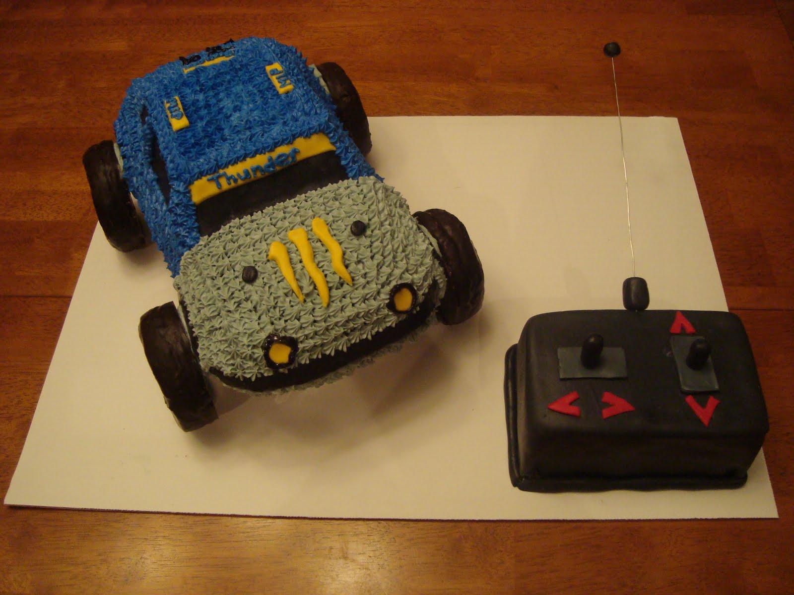 how to make a remote control car cake
