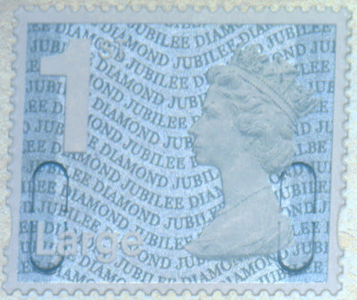 1st class large letter diamond jubilee stamp from business sheets.
