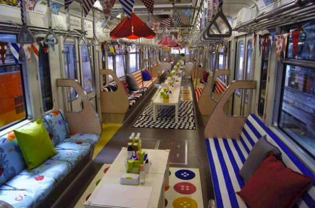Ikea's Pop Up Train Showroom