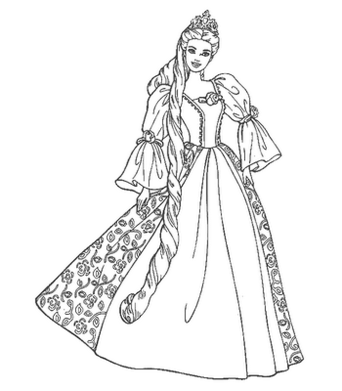 barbie free printable coloring pages coloringfilminspectorcom