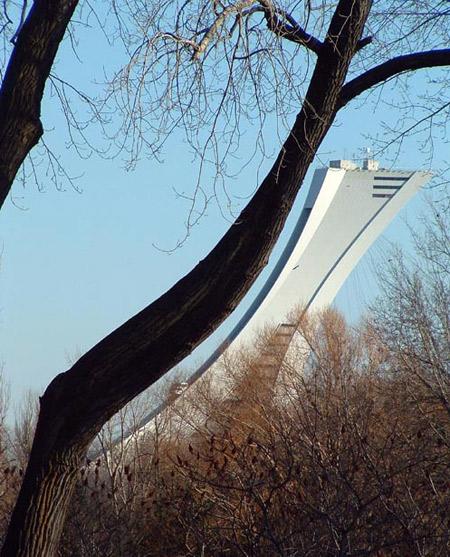 arquitetura ilusão de ótica, ilusões de ótica, design, criatividade, curiosidades, mestres da arquitetura, estádio olímpico montreal, eu adoro morar na internet