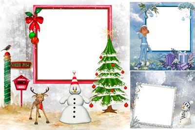 Porta retratos navideños para poner fotos de Navidad