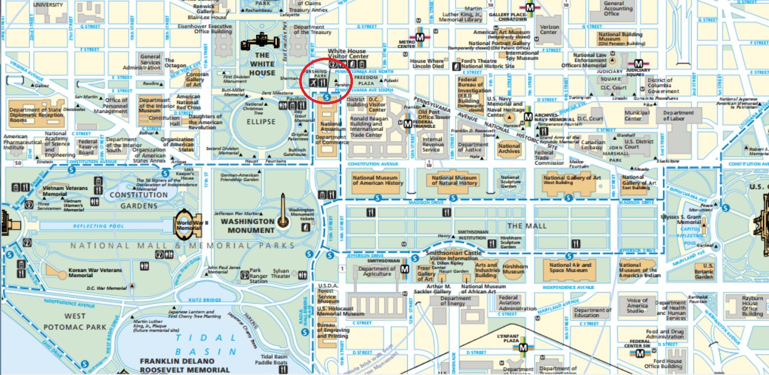 Washington DC Tourist Map Tours Attractions DC Walkabout - Washington dc map of monuments