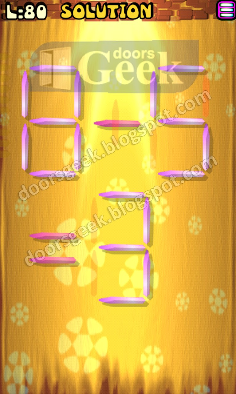 Matches puzzle episode 2 level 80 solution doors geek for 16 door puzzle solution