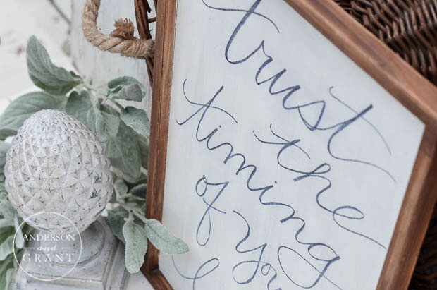 Create a piece of inspirational DIY art for the wall using your favorite quote.  ||  www.andersonandgrant.com