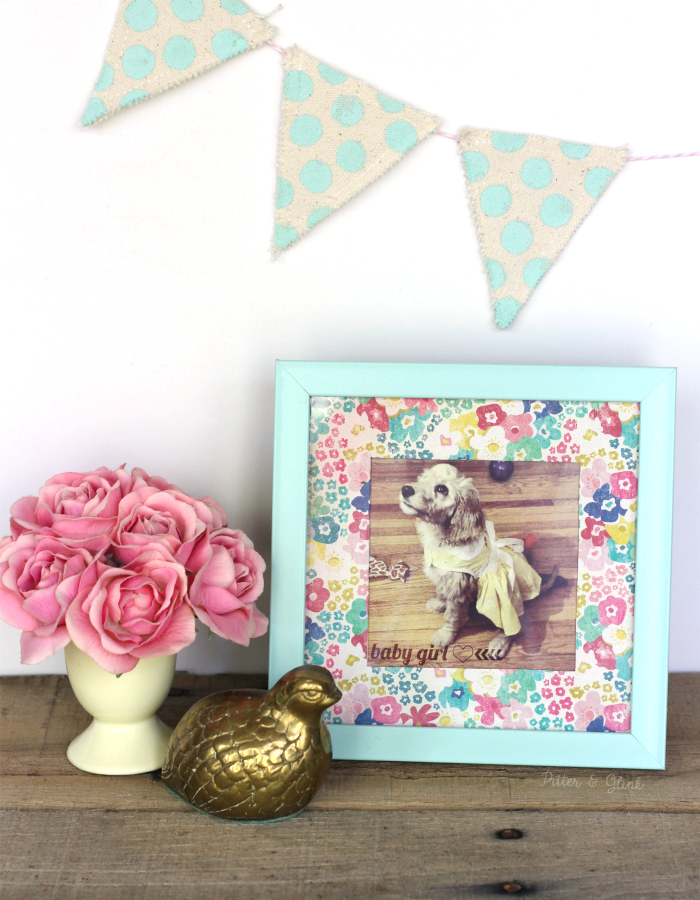How to Make a Plain Photo Mat Pop Using Patterned Scrapbook Paper www.pitterandglink.com