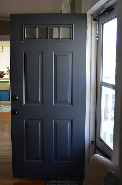 in the little yellow house painted front door. Black Bedroom Furniture Sets. Home Design Ideas