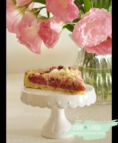 Tarta rabarbarowo-truskawkowa