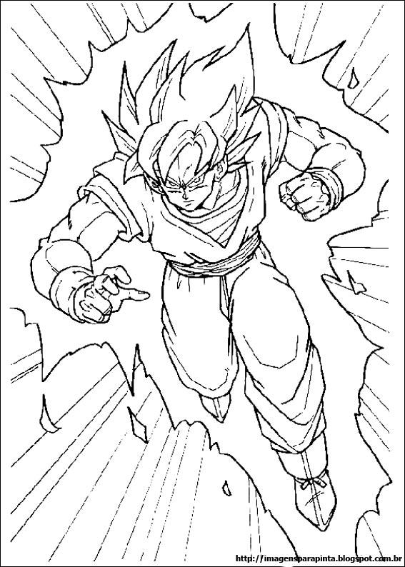 a desenhar dragonball z dbz goku  colorir