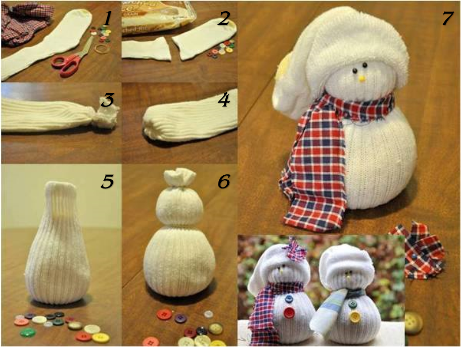 Nov 04,  · Directions to make a tube sock snowman. As in the video, use a funnel to fill one white tube sock with rice. Once you have a good amount of rice in the sock, knot the top near the end of the filling and trim the excess fabric. Roll a rubber band down the .