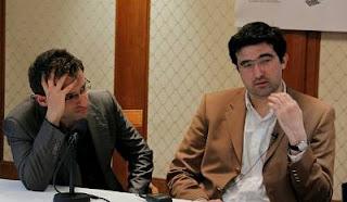 Echecs à Zurich : conférence de presse après la ronde 5 - Photo © www.chess-news.ru