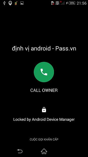 khóa thiết bị android
