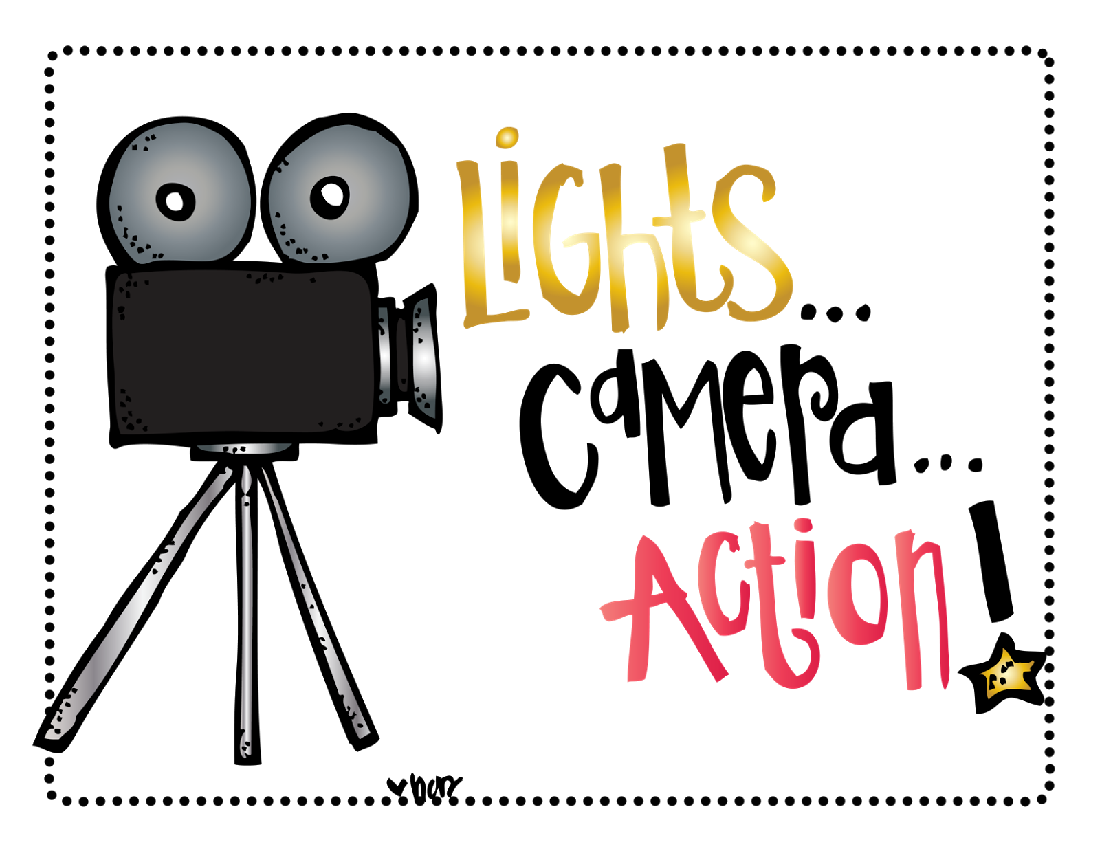 Lights Camera Action Clip Art (digital art by melonheadz)