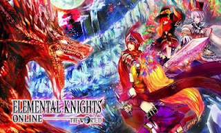 Screenshots of the Elemental Knights Online Red for Android tablet, phone.