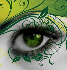 Green Leafy Eye Makeup