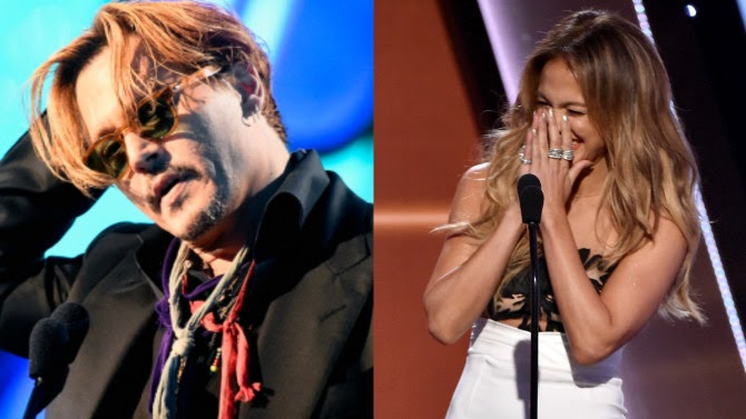 Hollywood Film Awards: Johnny Depp ebrio, Jennifer Lopez se equivoca