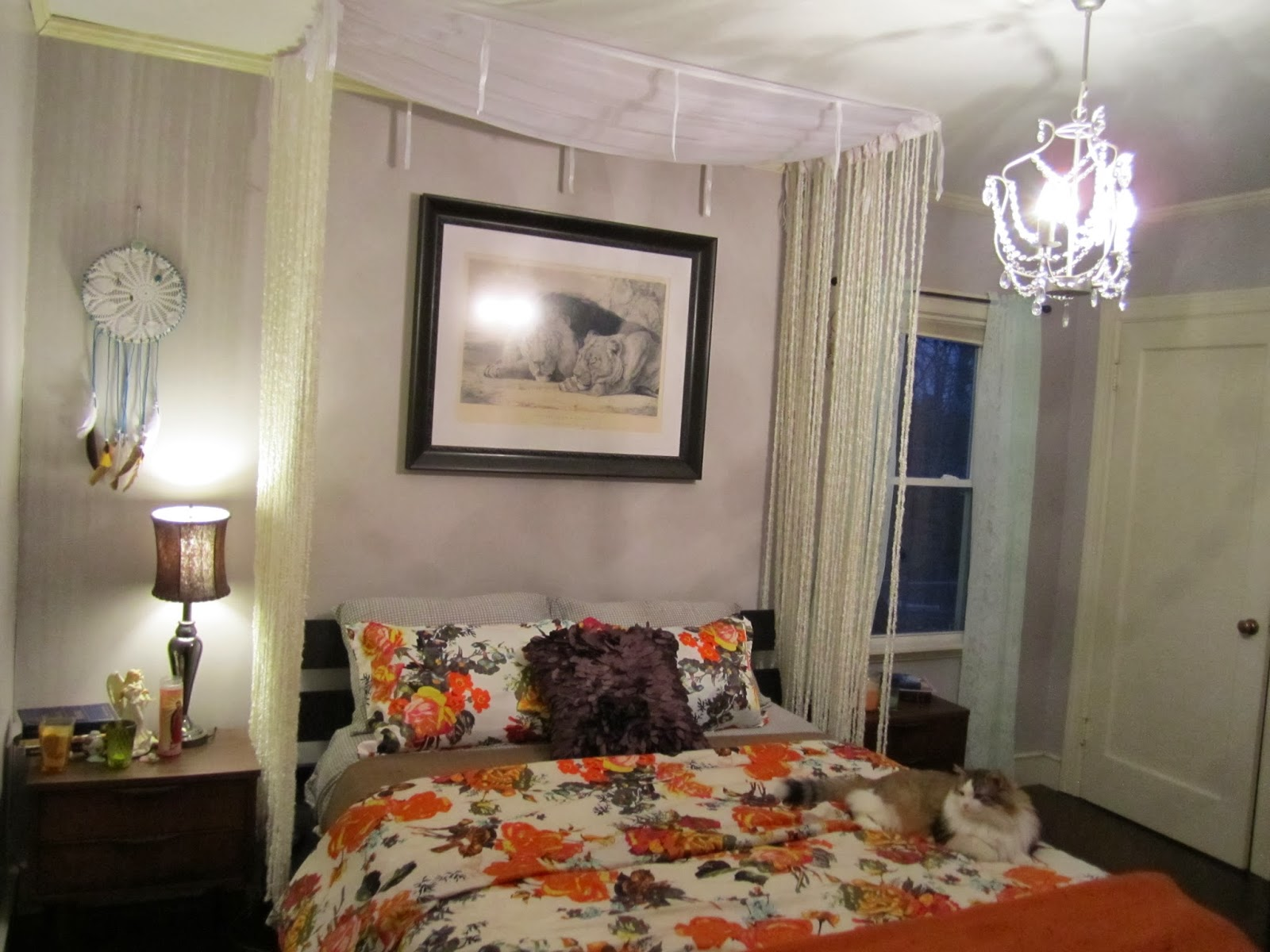Bedroom diy romantic bed canopy - Diy Romantic Fringe Bed Canopy