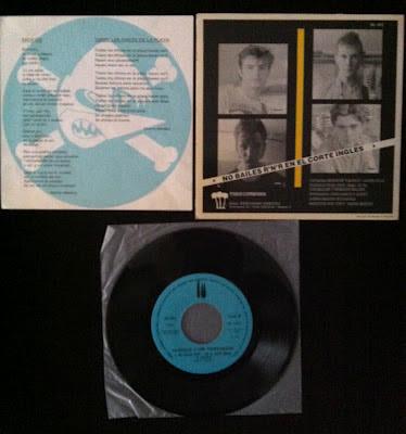 Loquillo y los Trogloditas – Pacífico (1983 – 3 Cipreses) Contraportada, Disco e Inserto