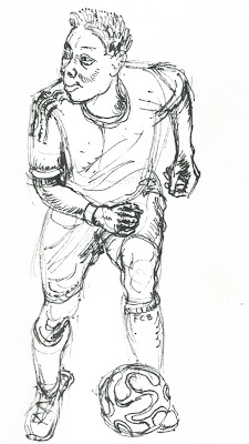 Alaba, Zeichnung, Fußball, Bayern, Bundesliga, Deutschland, Österreich