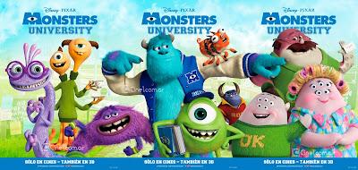 Monsters University International Banner Poster