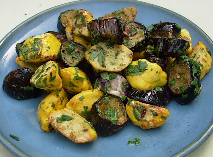 Kitchen to yours spiced eggplant and patty pan squash maghreb style