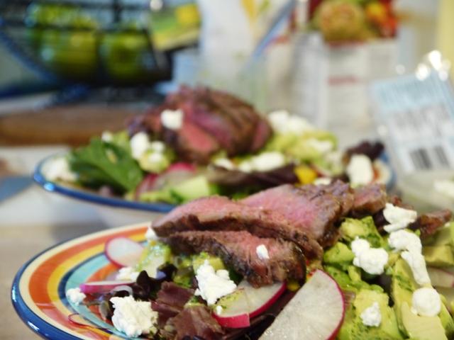 ... Tart: Steak Salad with Mango, Avocado and Jalapeno Vinaigrette