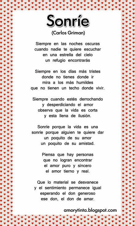 Poema Anímate al Amor