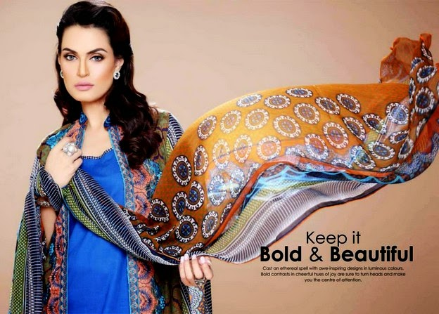 Nadia Hussain Embroidered Eid Collection 2014 By Shariq Textiles